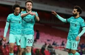 Hasil Liga Inggris, Diogo Jota Inspirasi Liverpool Hajar Arsenal 3–0