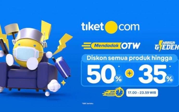 Tiket.com gelar 'Mendadak OTW' dengan harga gledek 50 Persen  35 Persen. - istimewa