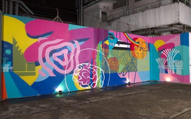 """Kolaborasi karya Mural yang diluncurkan hari ini pada acara media virtual """"Hidupkan Kembali Impianmu di Singapura"""" di M Bloc Space di Jakarta - istimewa"""