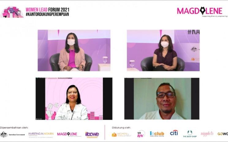 Women Lead Forum 2021 adalah sebuah ajang untuk mendukung perempuan pekerja dan mendorong terciptanya kesetaraan gender di tempat kerja, yang digelar pada 7 dan 8 April 2021.  - Women Lead Forum 2021