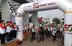 Bank Riau Kepri Rayakan HUT ke-55 dengan Gowes Santai dan Berbagi ke Panti Asuhan