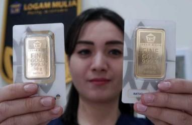 Harga Emas 24 Karat Antam Hari Ini, Selasa 13 April 2021, Turun Terus