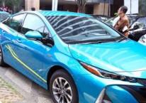 Mobil listrik dihadirkan pada acara Kickoff Electrified Vehicle Comprehensive Study di Jakarta, Rabu (4/7/2018)./JIBI-Abdullah Azzam