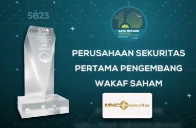 MNC Sekuritas Raih Penghargaan Sebagai Pengembang Wakaf Saham Pertama