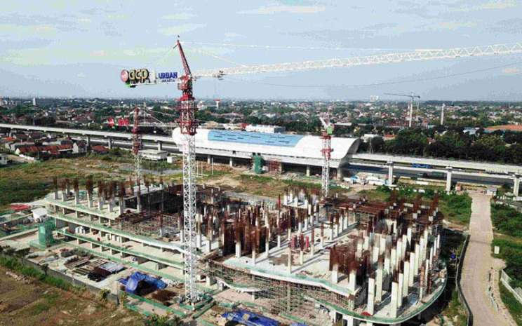 Salah satu proyek properti TOD LRT City yang dikmbangkan oleh PT Adhi Commuter Properti  -  Antara