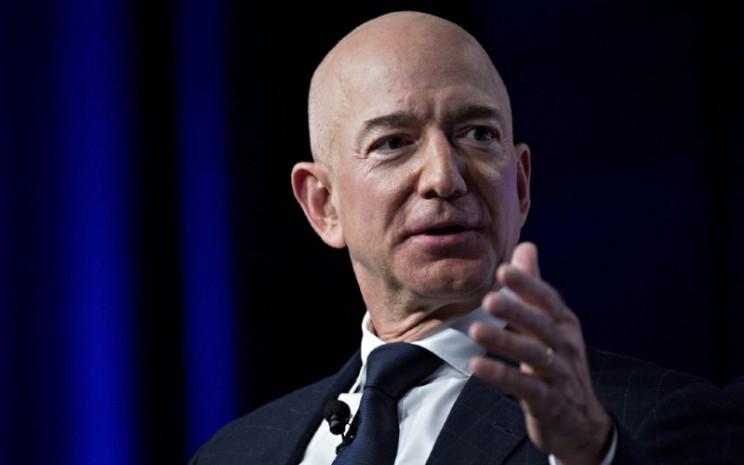 Pendiri dan pemegang saham Amazon.com Jeff Bezos.  - Bloomberg