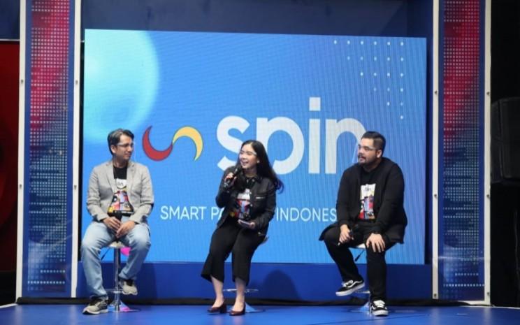 Managing Director MNC Kapital Jessica Tanoesoedibjo dalam acara Soft Launching SPIN Points yang diadakan virtual, Jumat (16/4/2021). - Istimewa