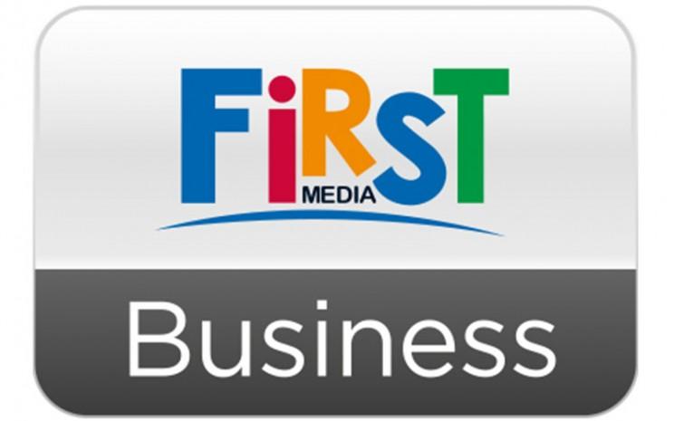 Logo First Media Business. PT Link Net Tbk dengan merek First Media untuk keenam kalinya meraih penghargaan Indonesia Wow Brand dari Markplus, Inc. di kategori Pay TV dan penghargaan perdana atas kategori Internet Service.  - firstmedia.com