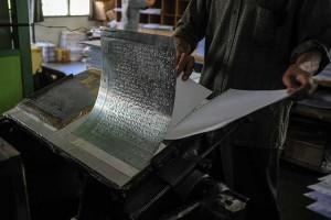 Mengintip Produksi Al Quran Braile di Bandung