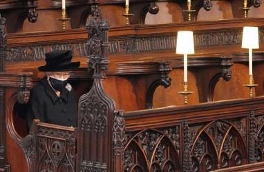 Potret Kesendirian Ratu Elizabeth saat Pemakaman Pangeran Philip