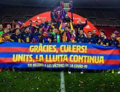 Bangganya Messi Jadi Kapten Tim Barcelona Sang Juara Copa