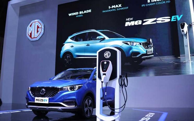 MG ZS EV tampil pada Indonesia International Motor Show (IIMS) 2021.  - Istimewa