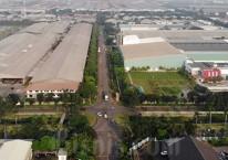Foto aerial kawasan industri Jababeka di Cikarang, Jawa Barat./Bisnis-Himawan L Nugraha\\r\\n