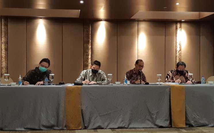 Pelaksanaan public expose PT Cita Mineral Investindo Tbk (CITA)di tengah pandemi pada Kamis (30/7/2020). - Bisnis/Pandu Gumilar
