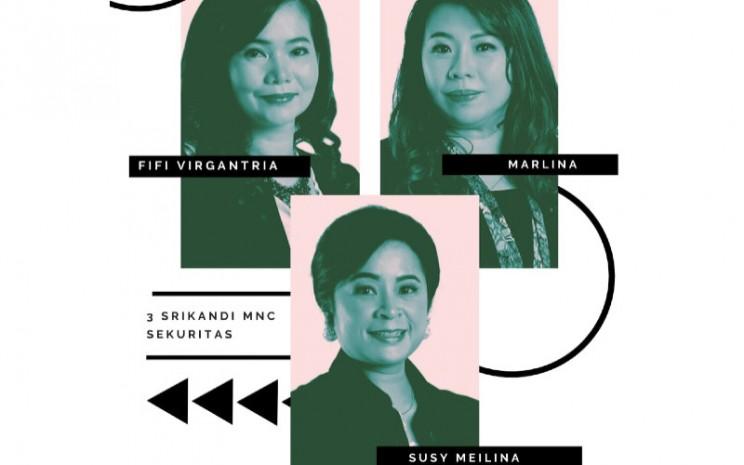 Manajemen MNC Sekuritas saat ini dinakhodai oleh tiga wanita yang duduk di jajaran direksi, Susy Meilina, Fifi Virgantria, dan Marlina.  - Bisnis.com/Janlika