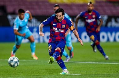 Tambah 2 Gol, Kapten Barcelona Lionel Messi Mantap Top Skor La Liga