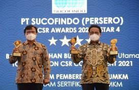Pembinaan UMKM Sucofindo Raih Penghargaan pada Ajang Top CSR 2021
