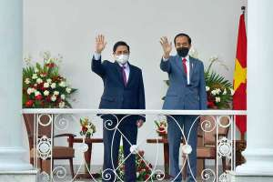 Presiden Joko Widodo Lakukan Pertemuan Bilateral Dengan Perdana Menteri Vietnam Pham Minh Chinh