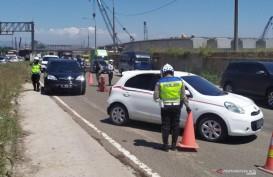 Larangan Mudik, 320 Kendaraan Dipaksa Putar Balik Saat Keluar Tol Cileunyi