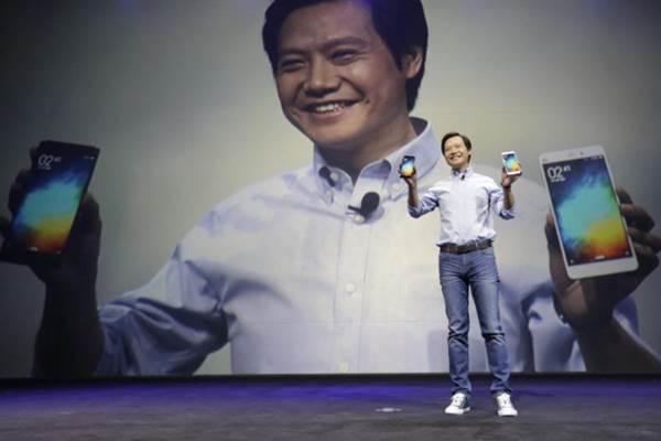 Lei Jun, pendiri dan CEO Xiaomi, saat peluncuran Mi Notes di Beijing. 1 Januari 2015. - Reuters/Jason Lee