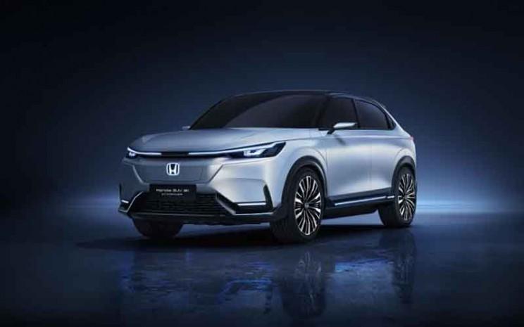 Mobil listrik prototipe Honda yang memiliki tampilan SUV.  - Honda