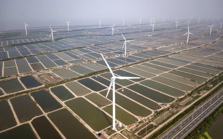 Pembangkit listrik tenaga angin di China -  Bloomberg