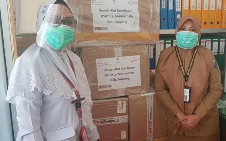 Bantuan alat-alat kesehatan untuk Rumah Sakit Umum Daerah (RSUD) La Temmamala Kabupaten Soppeng, Sulawesi Selatan dari Prudential Indonesia  - Antara