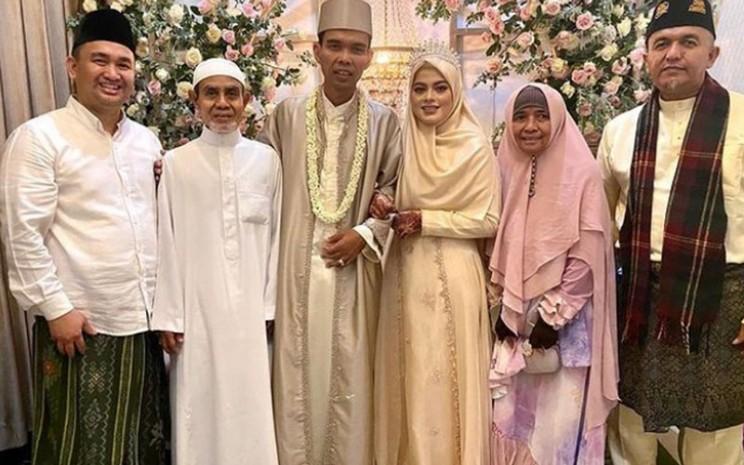 Ustaz Abdul Somad Batubara resmi menikahi Fatimah Az-Zahra Salim Barabud. - Instagram