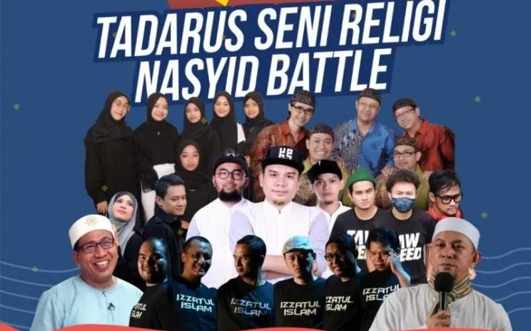 Sejumlah grup nasyid Festival Seni Ramadhan 1422 Hijriah di Makara Art Center Universitas Indonesia (UI), Depok, sejak 27-30 April 2021.  - FORO ANTARA