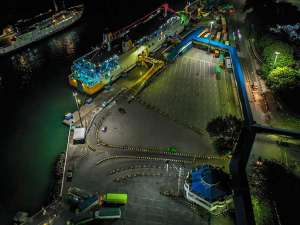 Sunyinya Pelabuhan Merak Saat Penerapan Larangan Mudik Lebaran