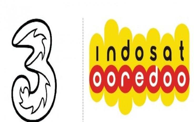 Logo Tri Indonesia dan Indosat
