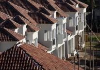 Ilustrasi pembangunan perumahan untuk kelas menengah./Bisnis.com/Paulus Tandi Bone