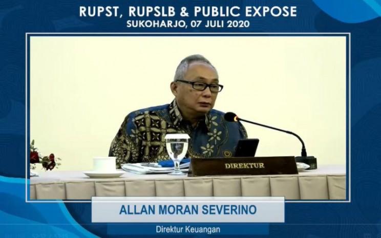 Direktur Keuangan PT Sri Rejeki Isman Tbk. (SRIL) atau Sritex Allan Moran Saverino menjelaskan kinerja perseroan cenderung stabil meski di tengah  situasi pandemi Covid/19.