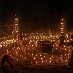 Sambut Malam-Malam Terakhir Ramadan, Warga Riau Gelar Festival Lampu Colok