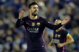 Seri vs Atletico, Bek Barcelona Gerard Pique Yakin…