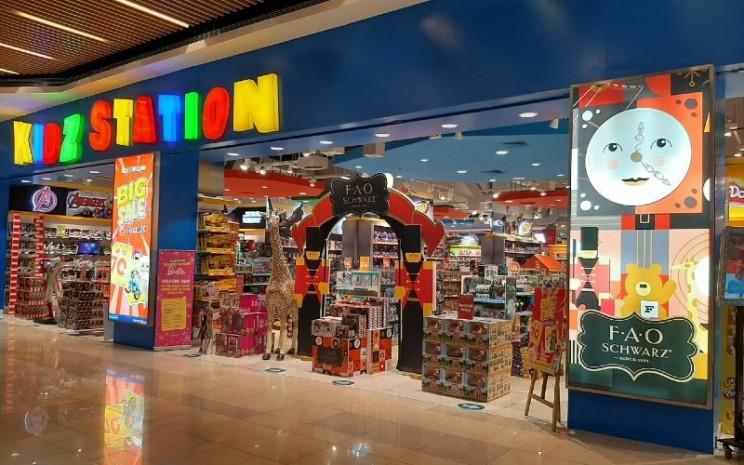 Toko-toko Kidz Station akan menampilkan berbagai mainan FAO Schwarz.  - MAP Aktif