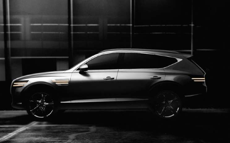 GV80, model SUV pertama Genesis, bergabung dengan jajaran pada Januari 2020.  - Hyundai