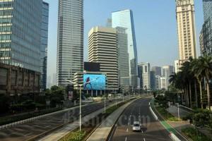 Sejumlah Jalan Protokol di Ibu Kota Terpantau Sepi Saat Lebaran Hari Pertama
