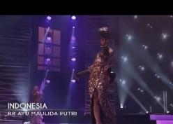 Makna dan Detail Gaun Komodo Ayu Maulida di Ajang Miss Universe 2020