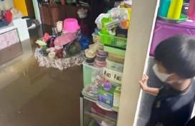 Sungai Deli Meluap, Ratusan Rumah di Medan Terendam