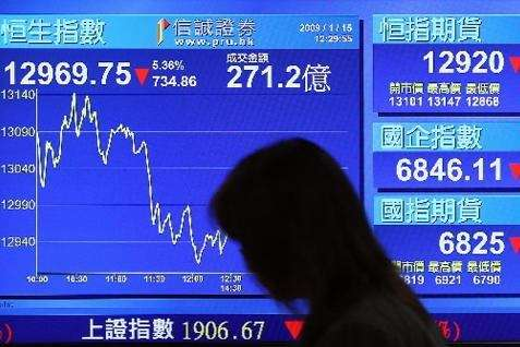 Ilustrasi pasar saham Asia