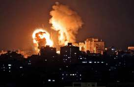 Gedung Kantor Media Internasional di Gaza Runtuh Kena Bom Israel