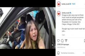Viral! Video Wanita Maki-Maki Polisi saat Disuruh…