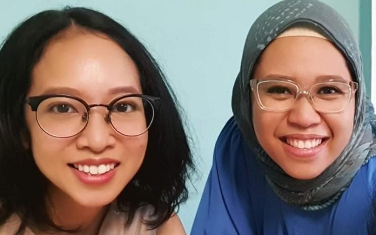Anika Miranti dan Prima Hayuningputri, pemilik Mad Bagel.  - Mad Begel