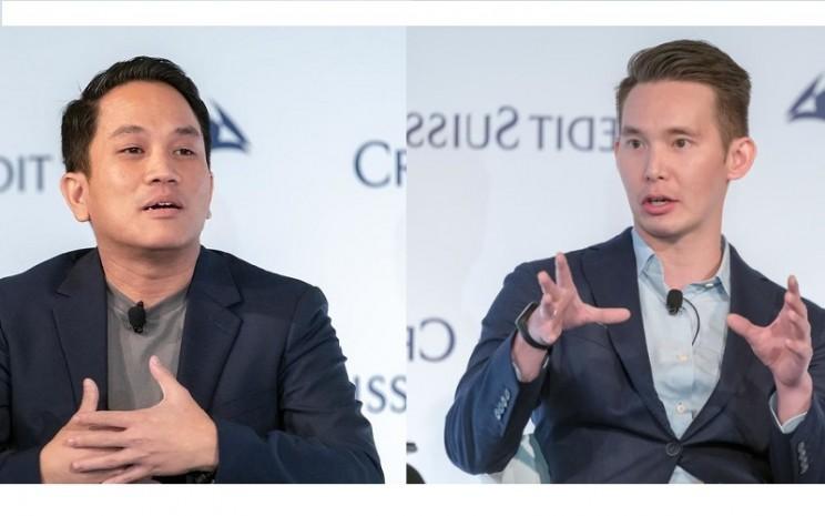 CEO GoTo Andre Soelistyo dan Presiden GoTo Patrick Cao  -  Flickr