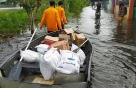 Banjir di Kecamatan Satui Berangsur Surut