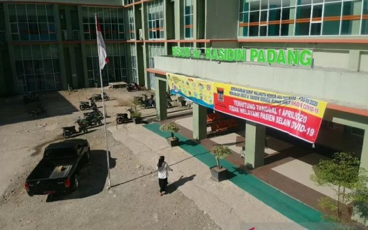 Rumah Sakit Umum Daerah Rasidin Padang merupakan salah satu rumah sakit tempat perawatan pasien Covid-19 di Sumatera Barat.  - ANTARA