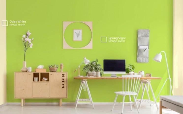 Aplikasi warna hijau pada rumah