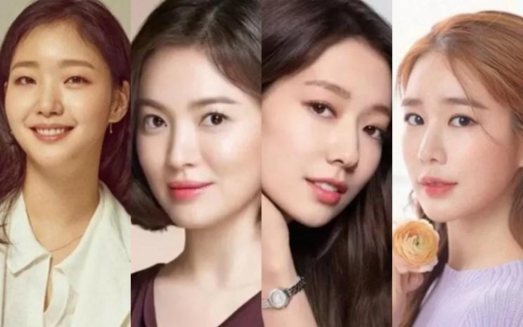 Aktris asal Korea Selatan Kim Go Eun, Song Hye Kyo, Park Shin Hye dan Yoo in Na  - ANTARA/Viu.