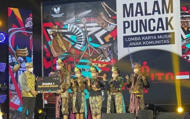 Para pemenang Lomba Karya Musik Anak Komunitas mendapatkan hadiah uang tunai dan mendapatkan fasilitasi dari Kemenparekraf.  - ANTARA